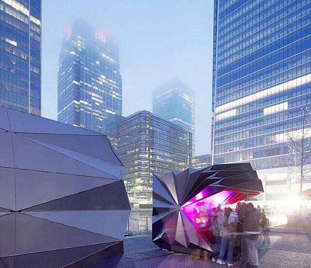 Katlanabilen şehir büfeleri görenleri büyülüyor