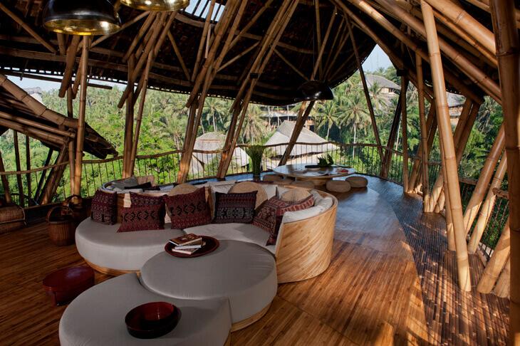 Neredeyse tamamı bambudan oluşan ev: Sharma Springs