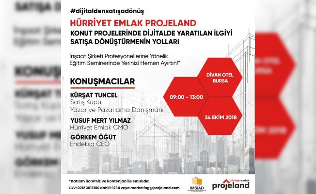 Hürriyet Emlak Projeland, 'Konutta dijital pazarlama eğitimi' ile Bursa'da
