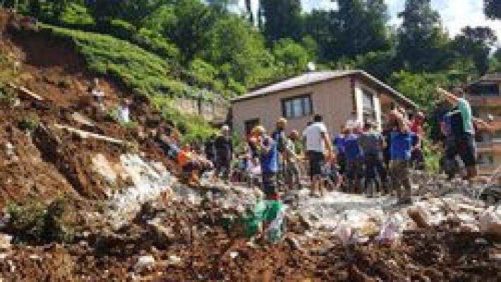 Rize'de sel felaketinde 47 bina yıkıldı